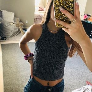 cropded sweater tank